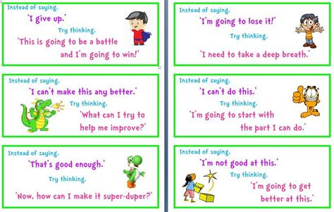 Task Cards Template For Affirmations by Positive Turnarounds 4 Pge Word Doc Some Cards To