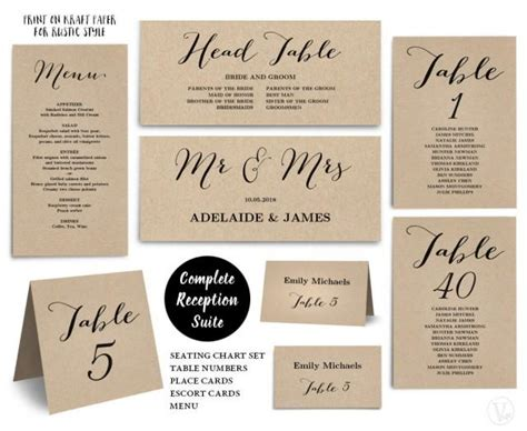 table number cards for wedding reception template printable wedding seating chart template plus table