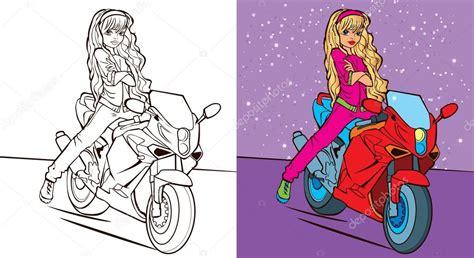 colorindo  livro da menina passeio de bicicleta vetores