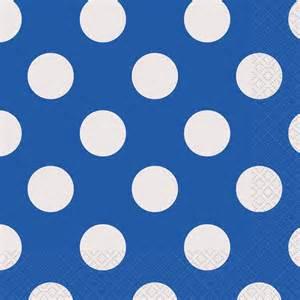 blue polka dot napkins blue polka dot party supplies