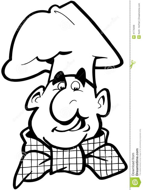 eps format is used for chef cook cartoon vector clipart stock vector image