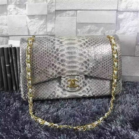 Chanel Jumbo Phyton chanel jumbo classic flap bag in silver python ghw a58600