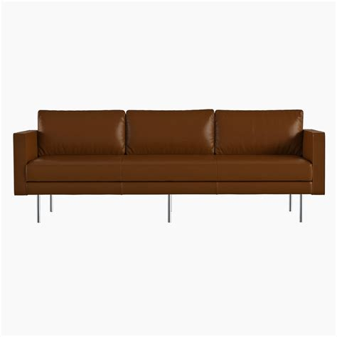 west elm leather sofa west elm axel leather sofa 3d model max obj fbx cgtrader com