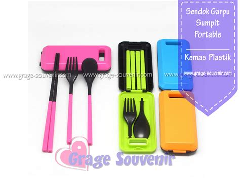 Sendok Garpu Set Melamin sendok garpu sumpit set portable warna murah jual souvenir
