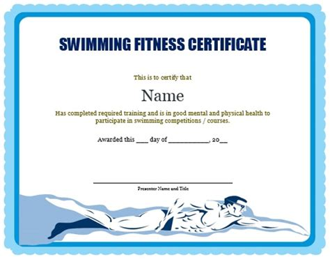 swimming award certificate template 30 free swimming certificate templates printable word