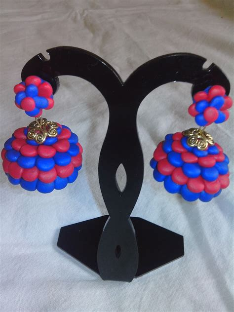 Handmade Handicrafts - quilling jewells on paper earrings quilling
