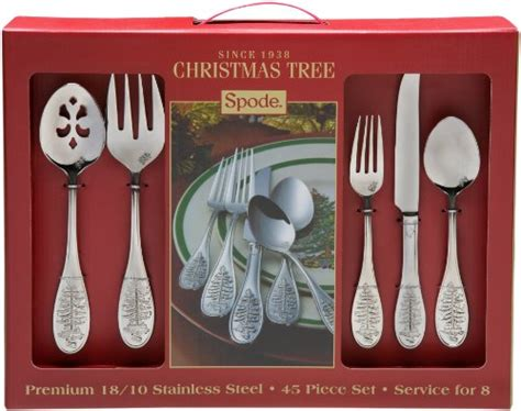 awardpedia spode christmas tree 45 piece flatware set
