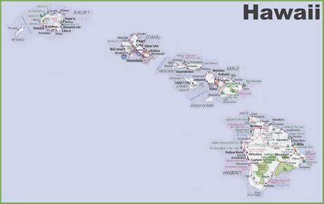map of usa and hawaii large detailed map of hawaii