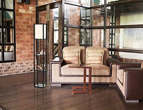 shelf floor l with shade simple designs lf1014 blk floor l etagere organizer