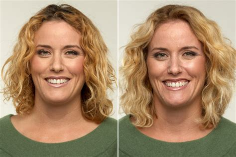 before and after pics of triangle face hairstyles before and after haircuts for square faces perfect haircut