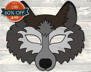 wolf mask template free wolf mask template www pixshark images