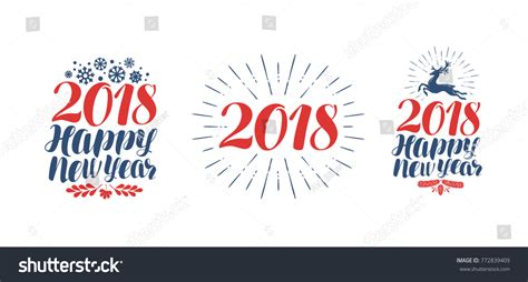 symbols that represent new year 2018 happy new year symbol label stock vector 772839409