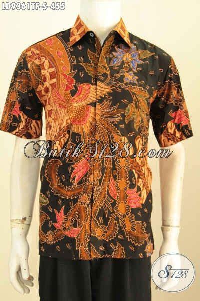 Hem Batik Tulis Pendek F60417022bru Kemeja Batik Terbaru Murah pakaian batik pria terbaru hem batik modis lengan pendek buat lelaki muda til beda dan