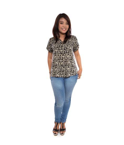 Atasan Promod Black Size S M zee aztec black big size fashion