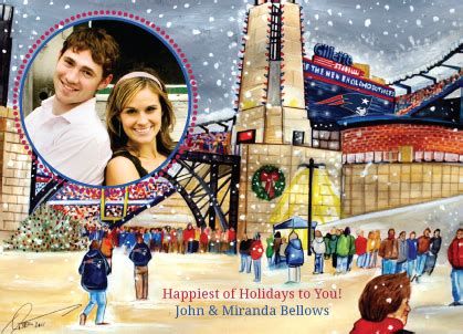 Gillette Stadium Gift Cards - winter at gillette stadium holiday cards look love send