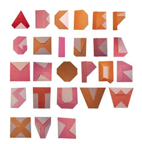 Origami Typography - swissmiss origami typeface