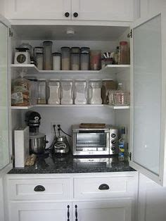 pin by jennifer brock on kitchen cabinet resurfacing and micro appliance garage hides the microwave and small