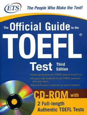 the official guide to the toefl test with dvd rom fifth edition books the official guide to the toefl test 3rd edition