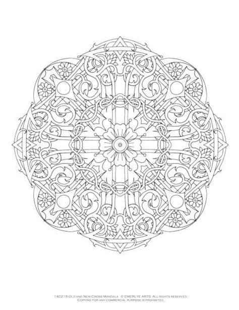 christian mandala coloring page mandalas set 6 christian symbols emerlyeartscoloring