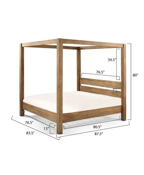 Diy Canopy Bed Frame White Build A Minimalist Rustic King Canopy Bed Free And Easy Diy Project And Furniture