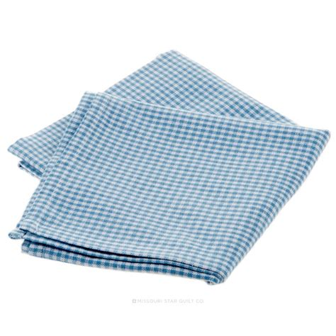 Light Blue Kitchen Towels Tea Towel Mini Check Light Blue On White Dunroven House Missouri Quilt Co