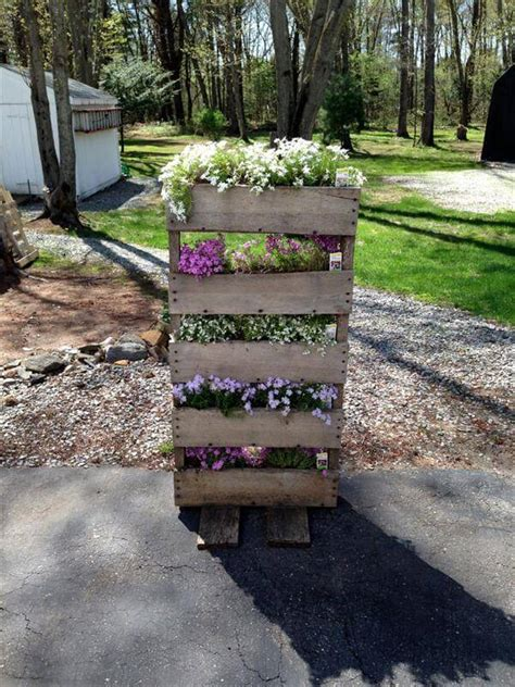 Skid Planters by Rustic Pallet Planter Pallet Furniture Diy