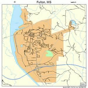 fulton map fulton mississippi map 2826300