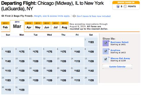 southwest airline  prices book  plane ticket