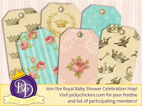 Hop In The Shower by Royal Baby Shower Freebie Pickychicken