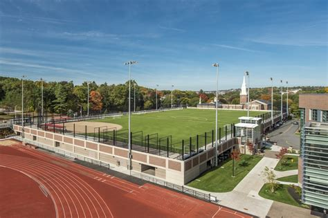 Field Garage by Wpi New Elevated Athletic Fields Parking Garage Smma