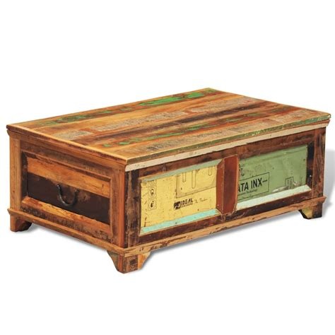 Coffee Storage Tables Vidaxl Co Uk Reclaimed Wood Storage Box Coffee Table Vintage Antique Style