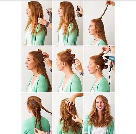 curly hairstyles for long hair no heat hair hacks 3 foolproof ways to make waves updo on the