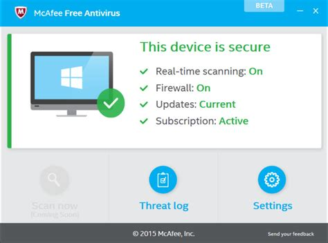 free anti virus tools freeware downloads and reviews from mcafee releases first mcafee free antivirus beta