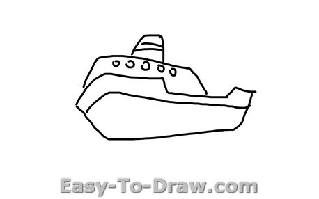 how to draw a boat from above how to draw a cartoon boat on the sea for kids 187 easy to