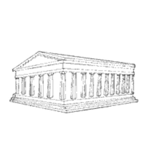 the parthenon sketch coloring page