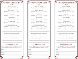 brasserie comment card marketing archive
