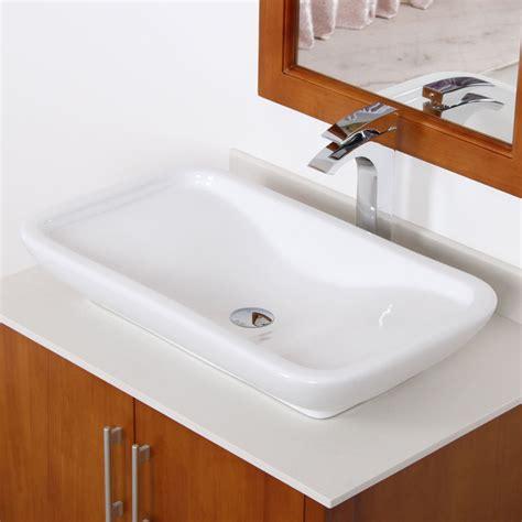 overstock bathroom sinks elite white ceramic square bathroom sink contemporary