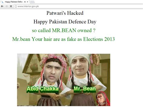 Www Interior Gov Pk by Pakistan Minister Of Interior Website Got Hacked And