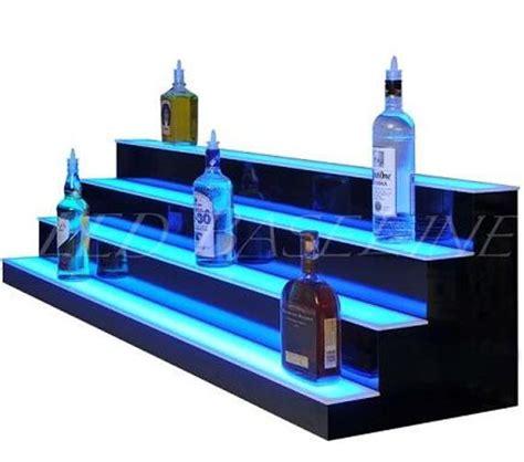 led bar shelves 34 4 step led lighted bar shelf liquor bottle display