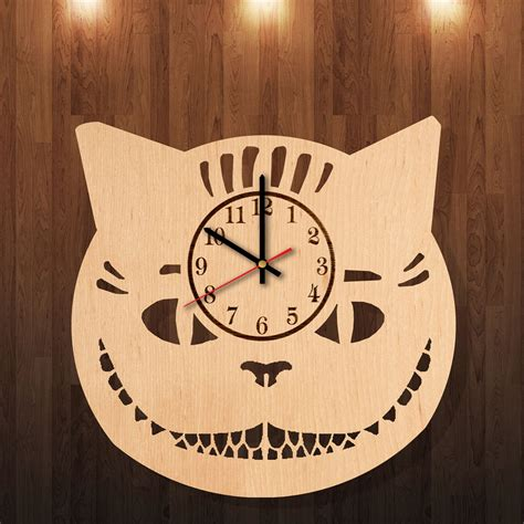 Handmade Clocks Wood - in cheshire cat handmade wood