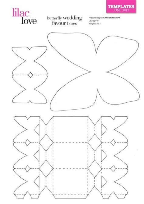 Wedding Favour Cards Templates