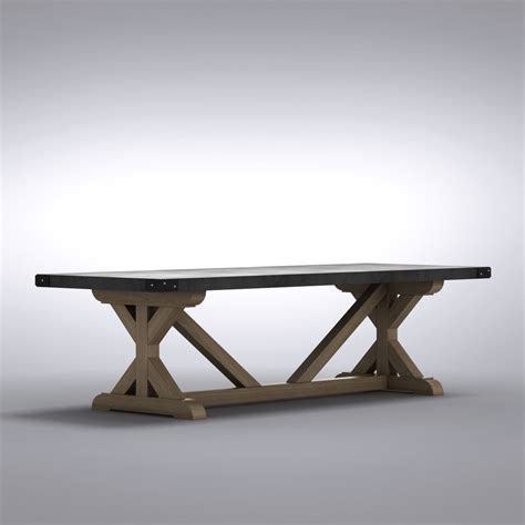 Restoration Hardware Concrete Dining Table 3d Dining Table