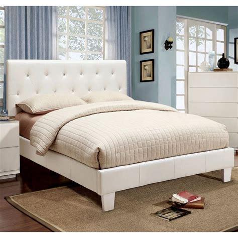 rhinestone bed frame furniture of america avara rhinestone tufted platform bed