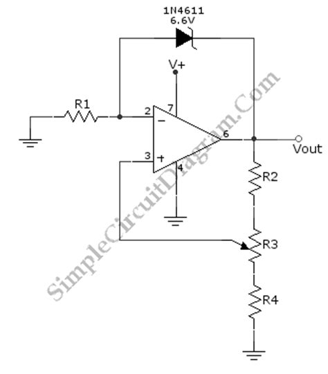 zener diode in current loop variable voltage reference simple circuit diagram