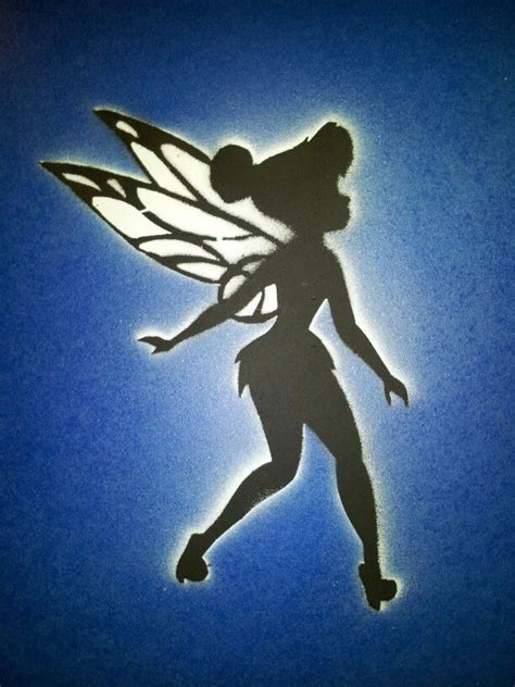 Sprei Tinker Bell Uk 160x200 73 best stencil spray paint paintings i made images on
