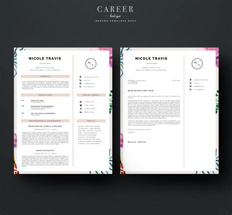 modern business letter template word 20 resume cover letter template word eps ai and psd