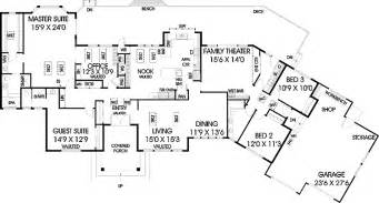 5 Bedroom Ranch House Plans five bedroom ranch hwbdo56952 ranch house plan from