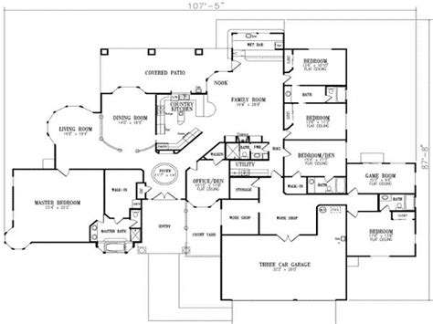 5 bedroom house floor plans 2 story house modern 5