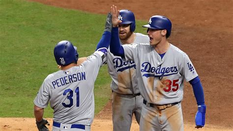 joc pedersons hairstyle steps game 4 dodgers outlast astros to tie up world series wuot
