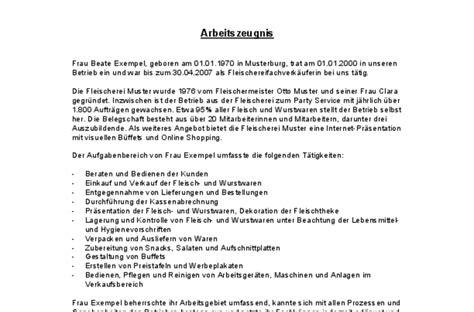 Vorlagen Zeugnis Muster Arbeitszeugnis Sehr Gut Fleischereifachverk 228 Uferin